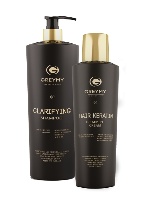 Hair Keratin Treatment Cream + CLARIFYING SHAMPOO