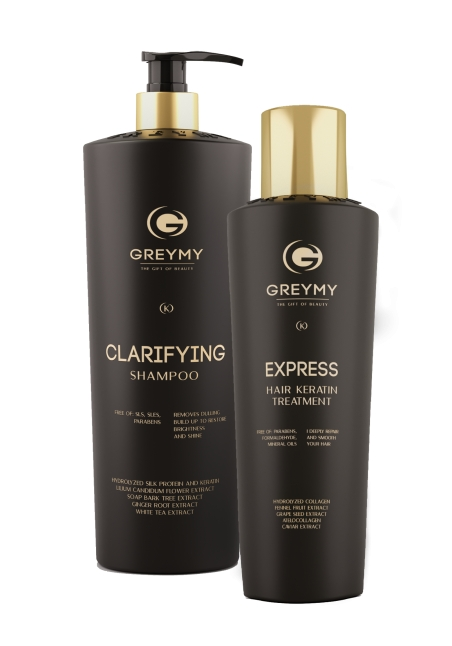 Express Hair Keratin Treatment + CLARIFYING SHAMPOO